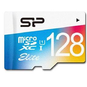 Silicon Power Elite 128GB Class 10 UHS-I microSDHC Flash Card w/SD adapter
