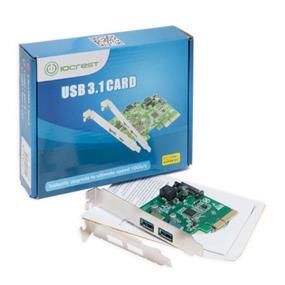 SYBA 2 Port USB 3.1 Type A PCI-e 2.0 x1 Controller  (SI-PEX20174)