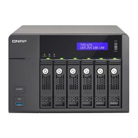 QNAP 6 bay TVS-671-i3-4G NAS Core i3-4150 3.5 GHz dual-core 4 GB DDR3 RAM