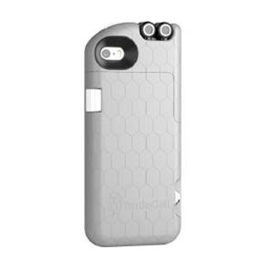Digital Treasures Retractable Headphone Case for iPhone SE/5/5S - Gray (09547)