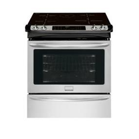"""Frigidaire 4.5 cu.ft. 30"""" Slide-In Induction Range with 3rd Element Convection , True Hidden Bake and Keep Warm Zone  - Stainless Steel (CGIS3065PF)"""