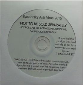 Kaspersky Antivirus 2015 (1 Users English) OEM