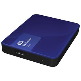 WD 3TB Blue My Passport Ultra Portable External Hard Drive - USB 3.0 - WDBBKD0030BBL-NESN