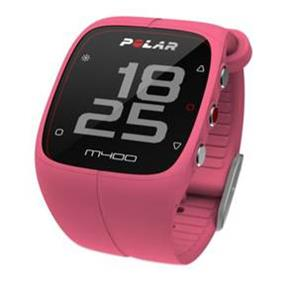 Polar M400 HR Activity Tracking Sport Watch with Bluetooth GPS and Heart Rate Sensor - Pink (90057192)