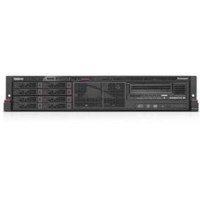 "Lenovo ThinkServer RD450 70DA - Server - rack-mountable - 2U - 2-way - 1 x Xeon E5-2660V3 / 2.6 GHz - RAM 8 GB - SATA - hot-swap 2.5"" - no HDD - DVD-Writer - AST2400 - GigE - no OS - Monitor : none (70DA0013UX)"