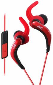 JVC HA-ETR40 - Sport Clip In-Ear Sound Isolating Headphones (Red)