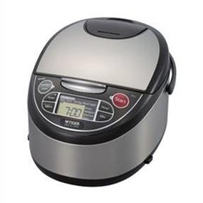 Tiger JAX-T10U 5.5 Cups Microcomputer Rice Cooker/Warmer/Slow Cooker - Black & Stainless Steel (JAX-T10U)