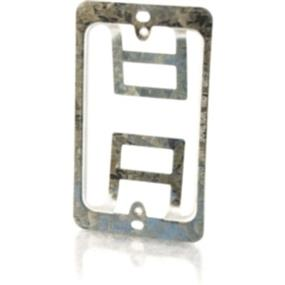 Cables To Go Single Gang Wall Plate Mounting Bracket Silver (03784)