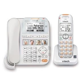VTech CareLine Corded / Cordless Answering System - White (SN6147)