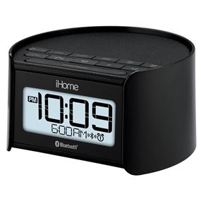 iHome iBT230 3-in-1 Dual Alarm Clock Radio (Black)