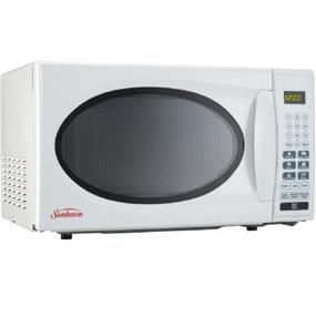 Sunbeam  0.7 cu.ft. Compact Size 700 Watt Countertop Microwave Oven - White (SBMW759W)