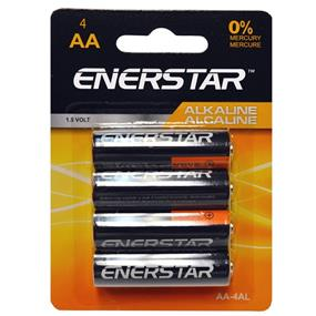 """Enerstar Alkaline """"AA"""" Battery, 4 pack (AA-4AL)"""