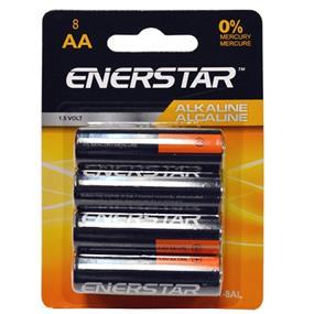 """EnerStar Alkaline """"AA"""" Battery, 8 pack (AA-8AL)"""