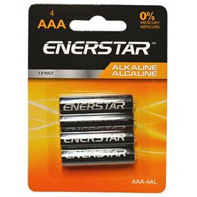 "Enerstar ""AAA"" alkaline batteries, 4 pack (AAA-4AL)"