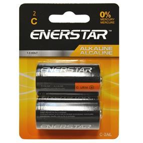 """Enerstar """"C"""" alkaline batteries, 2 pack (C-2AL)"""
