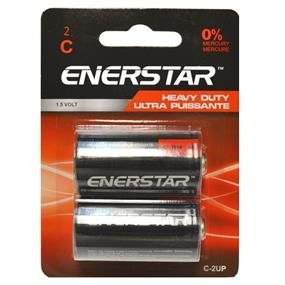 "Enerstar ""C"" Ultra Power batteries, 2 pack (C-2UP)"