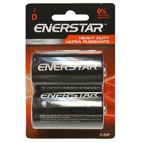 """Enerstar """"D"""" Ultra Power battery, 2 pack (D-2UP)"""