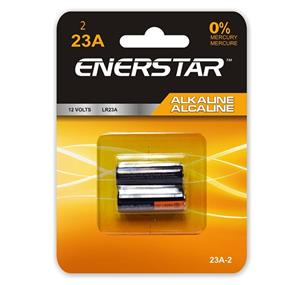 Enerstar Alkaline car remote battery 12V, 2 pack (23A-2)