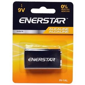 Enerstar Alkaline Battery 9V, 1 pack (9V-1AL)