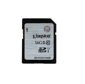 Kingston 16GB UHS-I Class 10 SDHC - Up to 45MB/s Read Flash Card (SD10VG2/16GBCR)