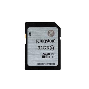 Kingston 32GB UHS-I Class 10 SDHC - Up to 45MB/s Read Flash Card (SD10VG2/32GBCR)
