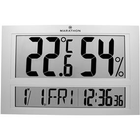Marathon Thermo-Hygrometer Clock