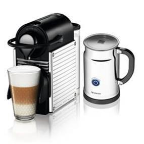 Nespresso Pixie Steel Chrome & Aeroccino+ Bundle (A+C60-CA-SS-NE)