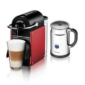 Nespresso Pixie Carmine Red & Aeroccino+ Bundle (A+D60-CA-DR-NE)