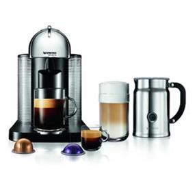Nespresso VertuoLine Chrome & Aeroccino+ Bundle (A+GCA1-CA-CH-NE)