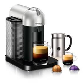 Nespresso VertuoLine Silver & Aeroccino+ Bundle (A+GCA1-US-SI-NE)