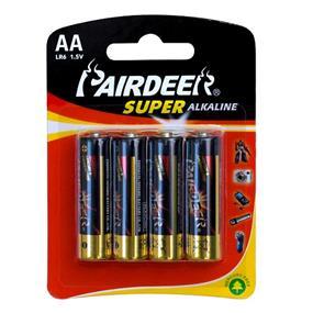 Pairdeer Brand AA 1.5V Super Alkaline Batteries 4pcs (7151B-4B)