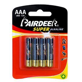 Pairdeer Brand AAA 1.5V Super Alkaline Batteries 4pcs (7171B-4B)