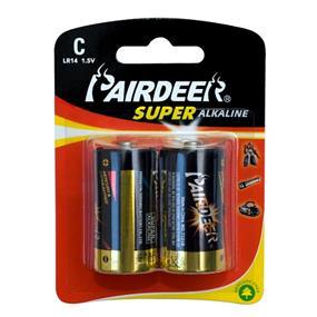 Pairdeer Brand C 1.5V Super  Alkaline Batteries 2pcs (7121B-2B)