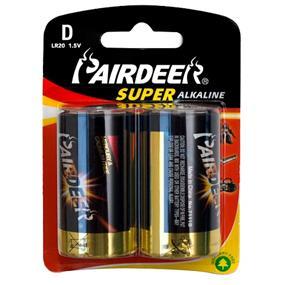Pairdeer Brand D 1.5V Super Alkaline Batteries 2pcs  (7121B-2B)