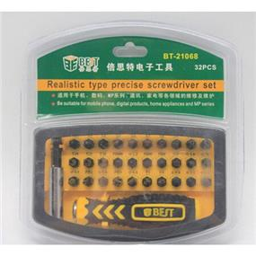 Best 32 in 1 Realistic Type Precise Screwdriver Set (BT-21068)
