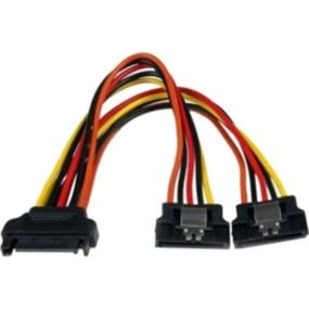"StarTech Latching SATA Power Y Splitter Cable Adapter - M/F - 6"" (PYO2LSATA)"