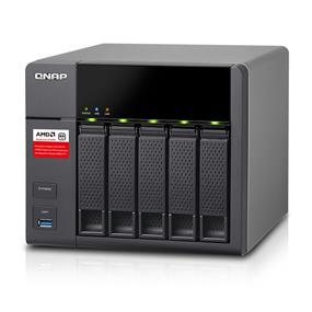 QNAP 5 Bay TS-563-2G NAS AMD x86 G-Series Quad-core 2.0 GHz 2GB RAM