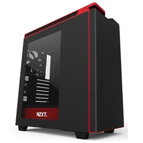 NZXT H440 Steel Mid Tower Case Matte Black & Red (CA-H442W-M1)
