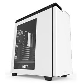 NZXT H440 Steel Mid Tower Case White & Black (CA-H442W-W1)