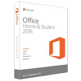 Microsoft Office Home and Student 2016 Win English 1 License NA Only Medialess (79G-04368/79G-04589)
