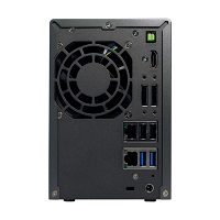 ASUSTOR AS6102T 2-Bay NAS, Intel Celeron Dual-Core, 2 GB SO-DIMM DDR3L, GbE x 2, USB 3.0 & eSATA, WoL, System Sleep Mode, AES-NI hardware encryption