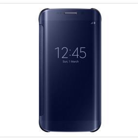 Samsung Galaxy S6 Edge Plus OEM EFZG928CBEGCA Clear View Cover GS6 Edge Plus Blue/Black