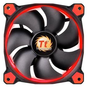 Thermaltake RIING 12 - 120mm High Static Pressure Radiator Red LED Fan 1500rpm Hydraulic Bearing