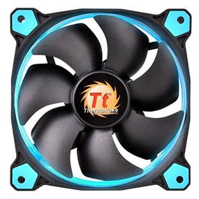 Thermaltake RIING 12 - 120mm High Static Pressure Radiator Blue LED Fan 1500rpm Hydraulic Bearing