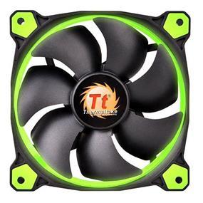 Thermaltake RIING 12 - 120mm High Static Pressure Radiator Green LED Fan 1500rpm Hydraulic Bearing