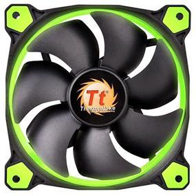 Thermaltake RIING 14 - 140mm High Static Pressure Radiator Green LED Fan 1400rpm Hydraulic Bearing