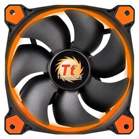 Thermaltake RIING 14 - 140mm High Static Pressure Radiator Orange LED Fan 1400rpm Hydraulic Bearing