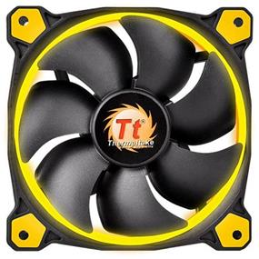 Thermaltake RIING 14 - 140mm High Static Pressure Radiator Yellow LED Fan 1400rpm Hydraulic Bearing