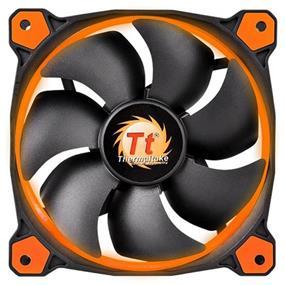 Thermaltake RIING 12 - 120mm High Static Pressure Radiator Orange LED Fan 1500rpm Hydraulic Bearing