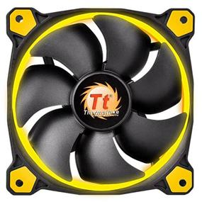 Thermaltake RIING 12 - 120mm High Static Pressure Radiator Yellow LED Fan 1500rpm Hydraulic Bearing